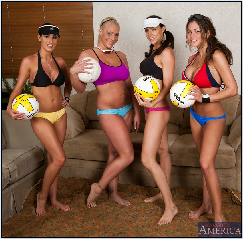 lesbian nude volleyball videos