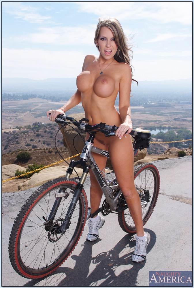Nude girls riding bicycles