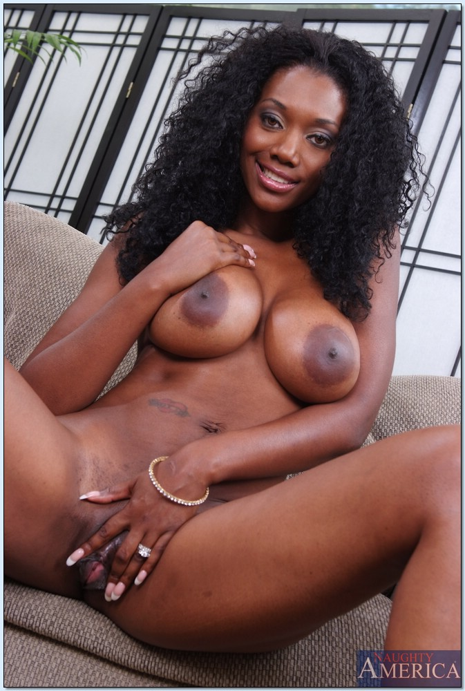 black milf solo - ... Black MILF Nyomi Banxxx revealing dark pussy and huge nipples outdoor  ...