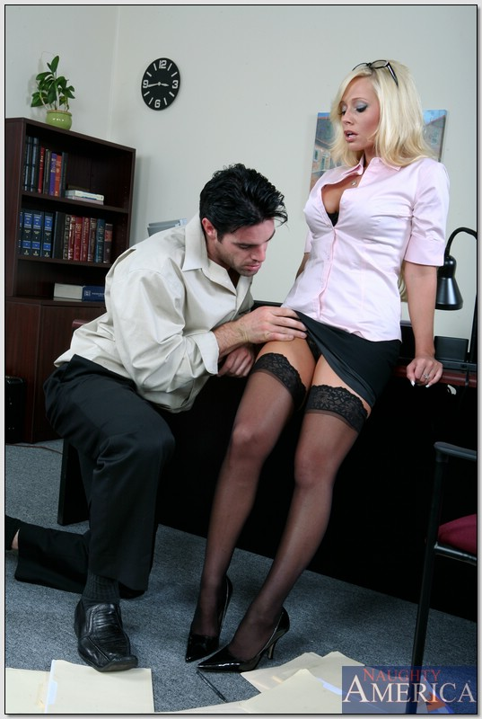 hot secretary wet - ... Busty office secretary Angelina Ashe stripped to stockings and fucked  ...