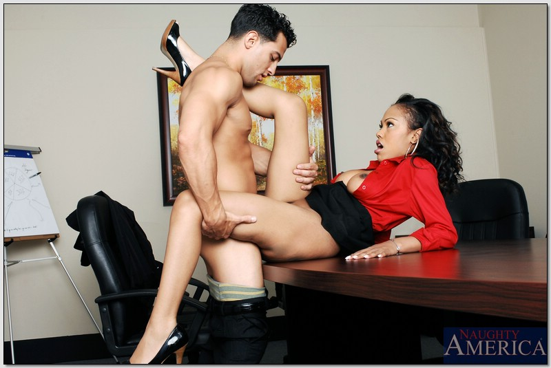 In sex office ebony black