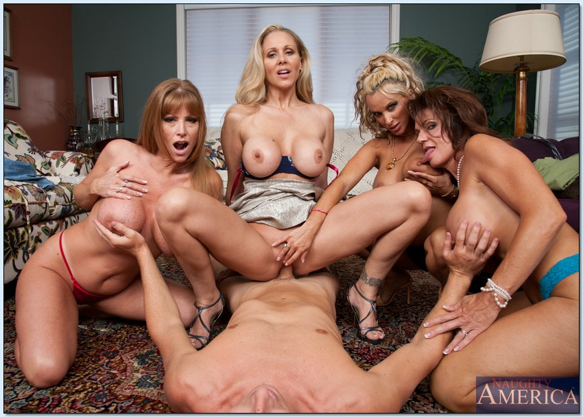 Moms and friends orgy