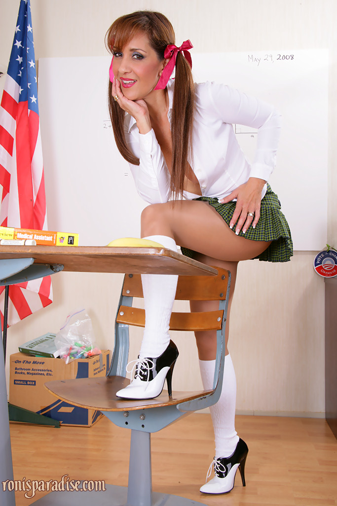 Can paraphrased? Hot teens with big tits in school uniform speaking