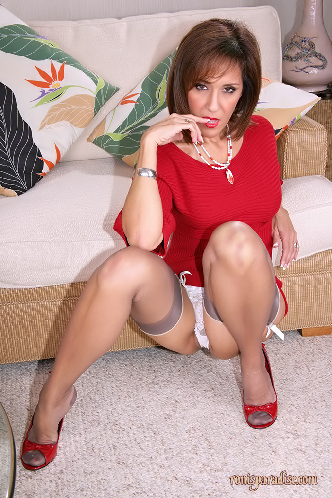 Upskirt white panties mature