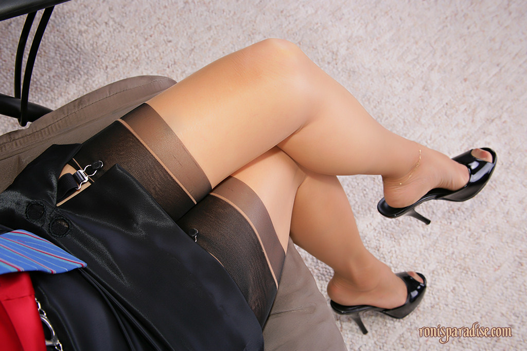 Mature mules and stockings