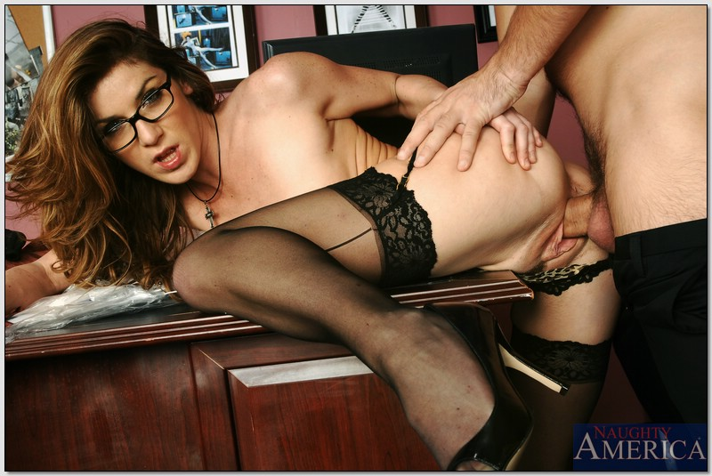kayla paige naughty office - ... Office hottie Kayla Paige stripped to stockings and lingerie and dicked  ...