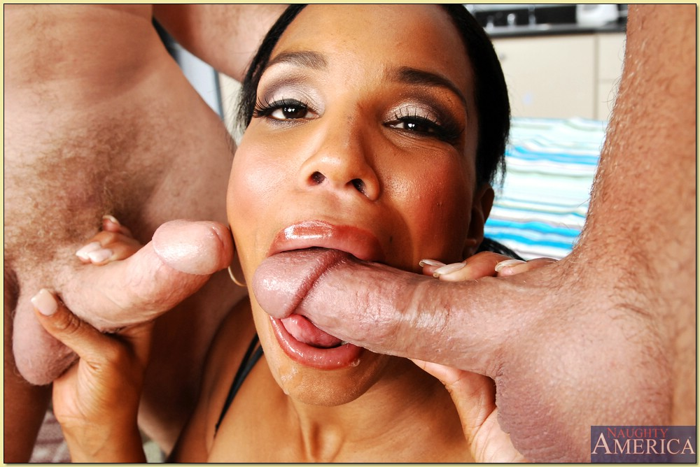 Sucking Two Dicks Ebony