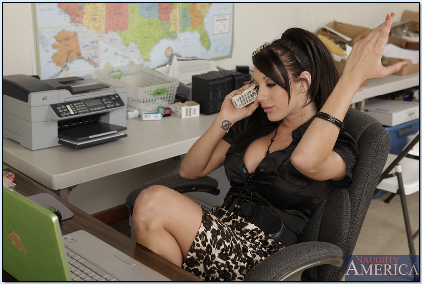 Pretty Amy Brooke with big tits is getting fucked in the office