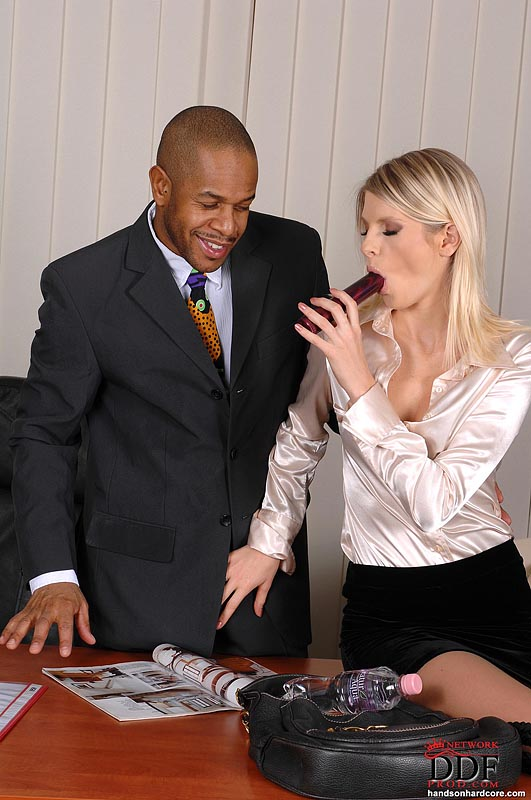 office straight stud interracially assfucked