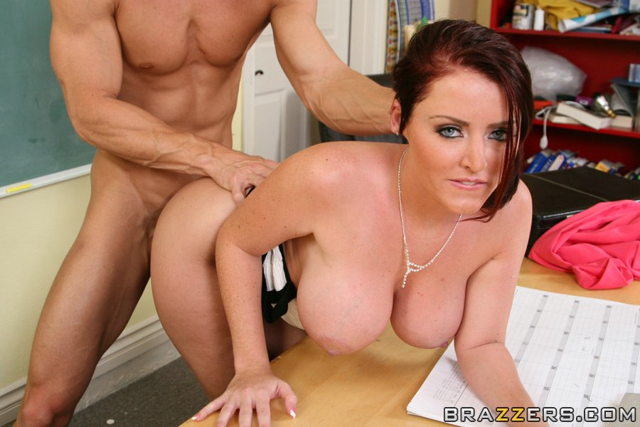 Cute Teacher With Big Boobs Sophie Dee Gets Pleased With Ass Fucking
