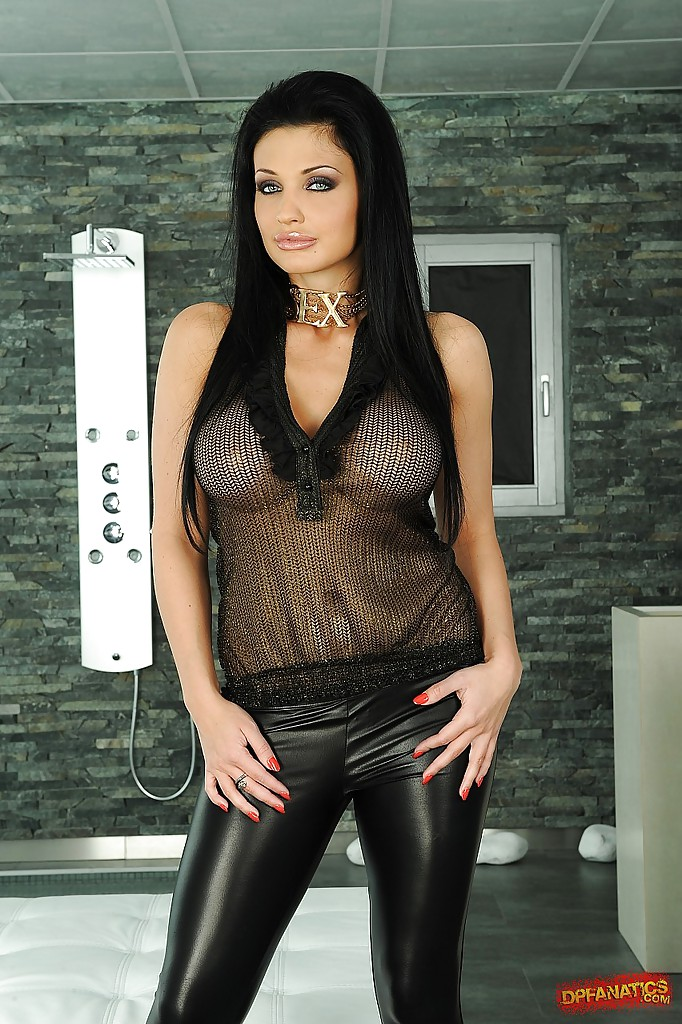 Aletta ocean black leather pants
