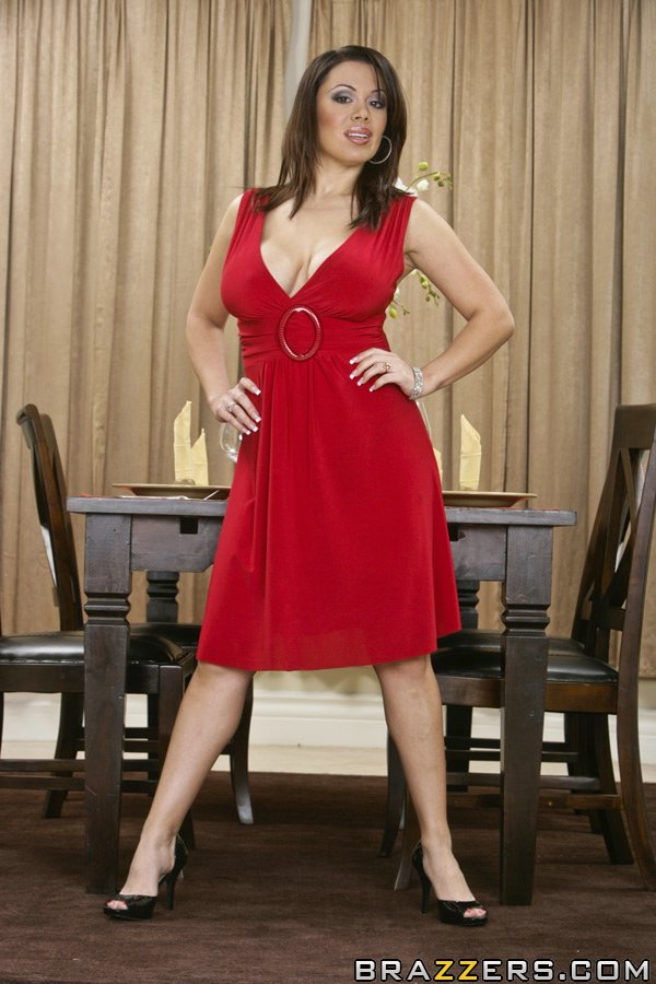 Milf wife in red