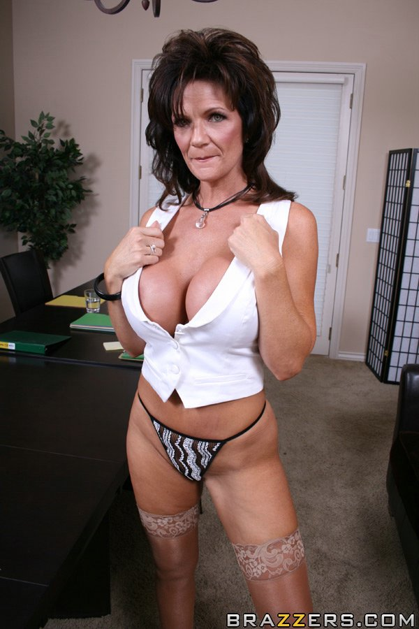 Sexy mom with huge tits