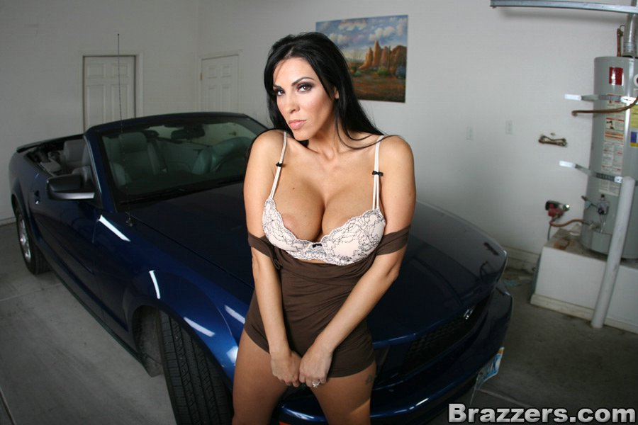 Wife ass in garage tits