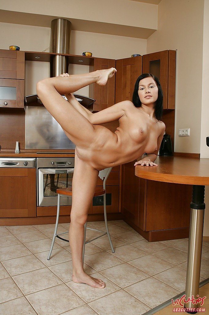 Teen nude stretching