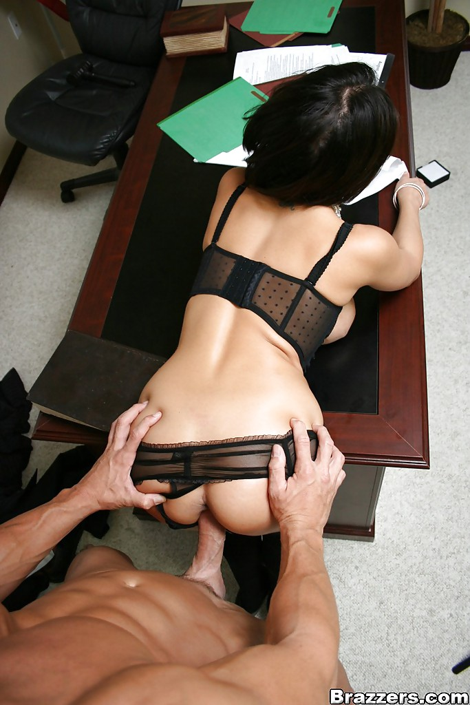 Sex on table in office