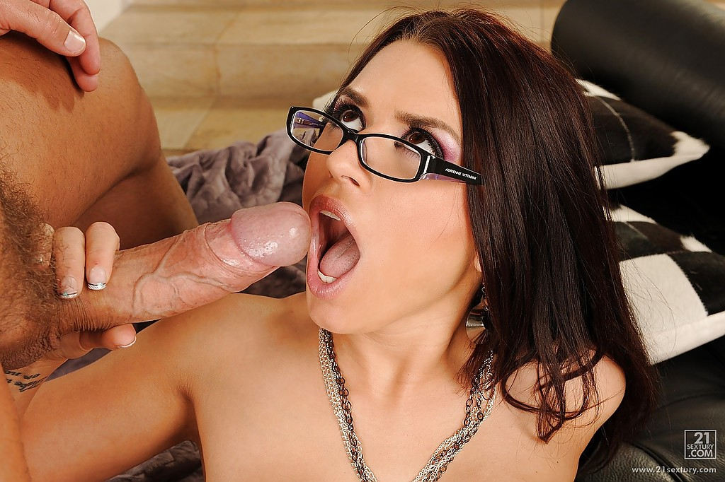 Can Sexy chicks with glasses sucking join. All