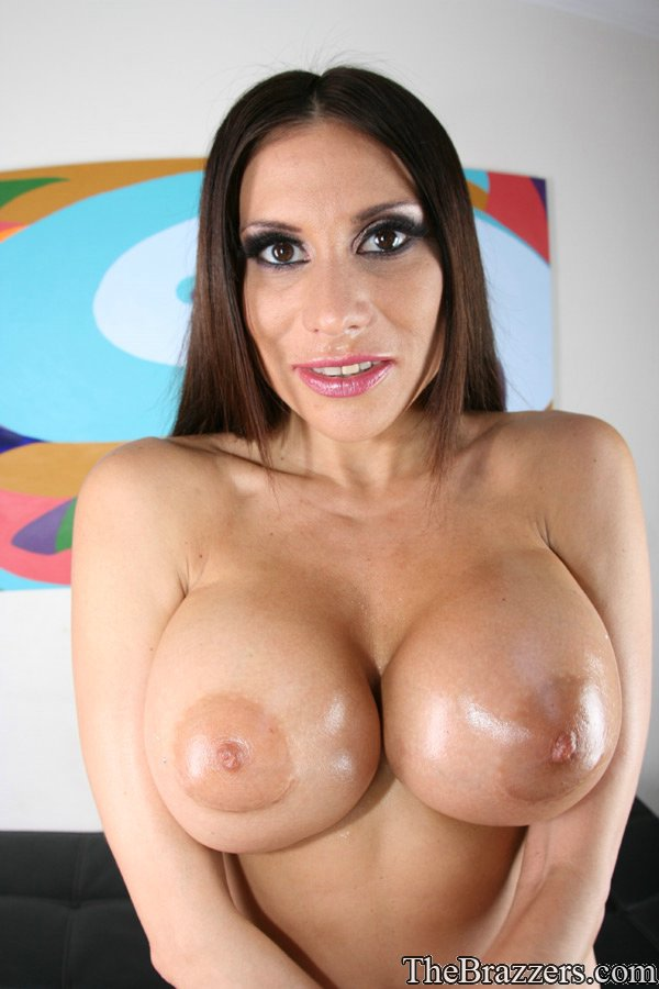 cum on big latina juggs - ... Latina mom Sheila Marie strips off police uniform and shows big juggs  ...