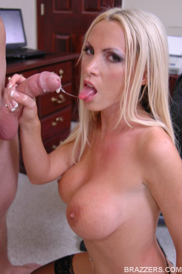 For nikki benz big tits at work with
