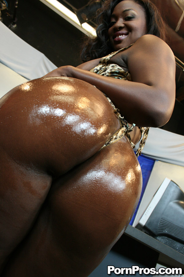 Big ebony juggs