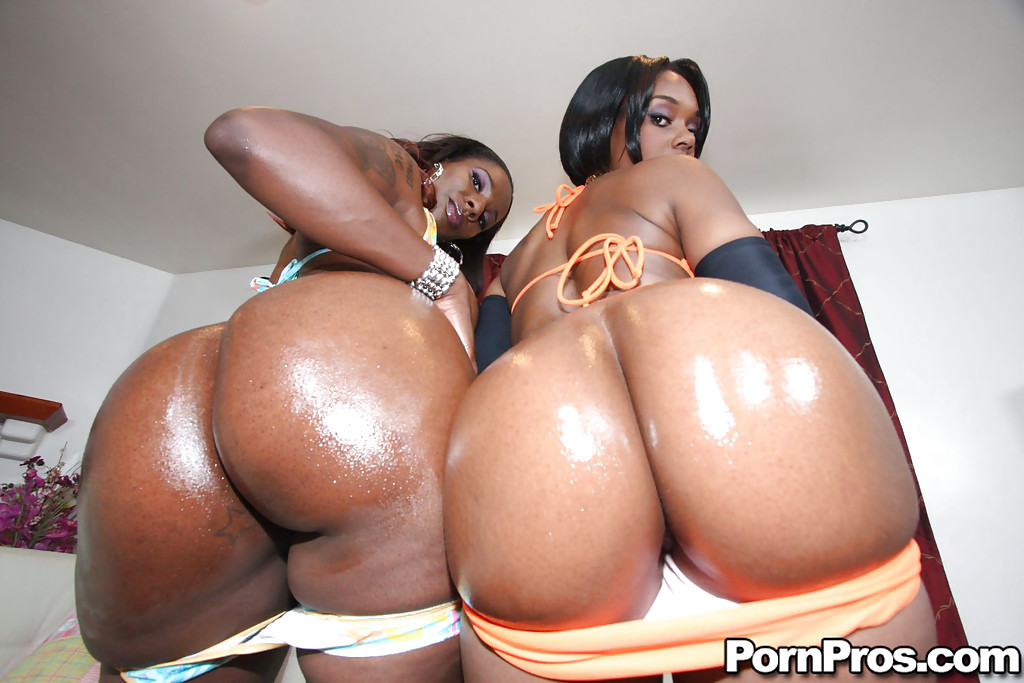 Big black oiled ebony ass and pussy join