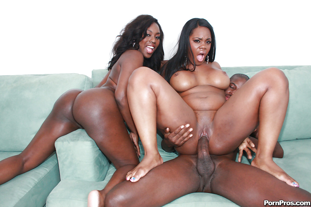 Ebony Anal Porn - ... Ebony MILF babes Janae and Samone having rough anal groupsex ...