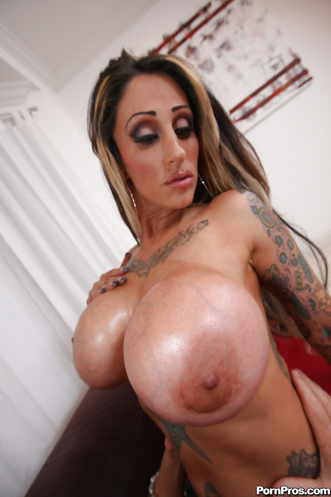 Big tit tattooed milf