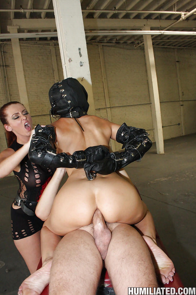 sexy girl in rough bondage