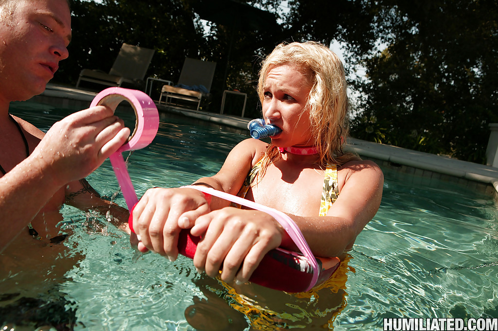 ... Teen babe Addison Cain poses by the pool and has BDSM sex ...