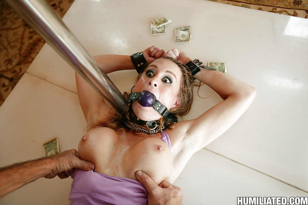 Big tits tied up and fucked
