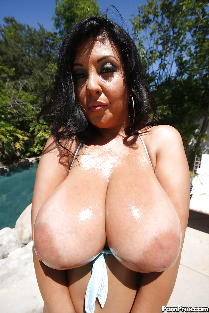 Big Tit Latina Poolside