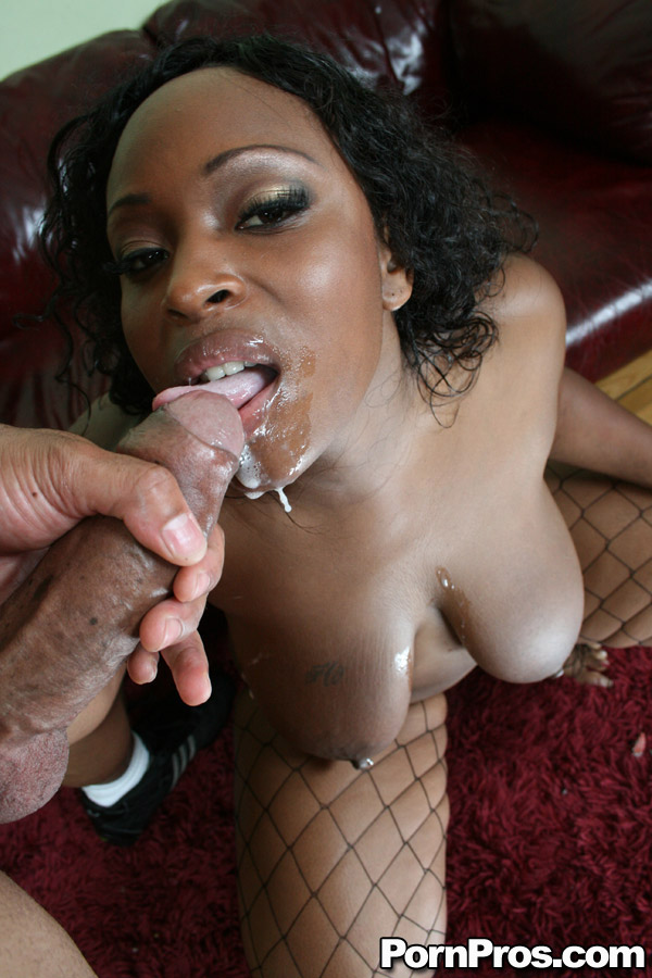 Black Fat Ebony Cumshot - ... Fatty ebony babe Skyy Black gets a mouthful of cum after fucking ...
