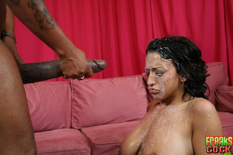 Monster cum on her face