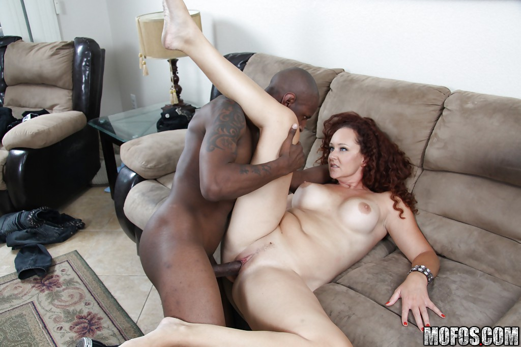 Old milf takes some black cock
