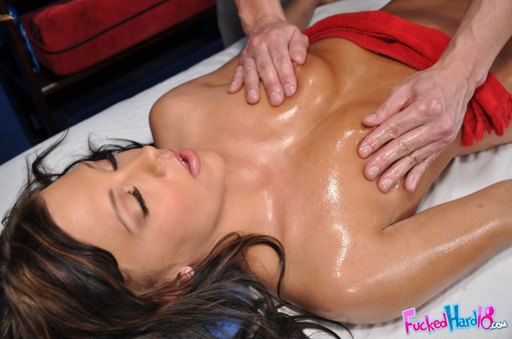 Ivy got massage from handsome guy before getting hardcore ass ...