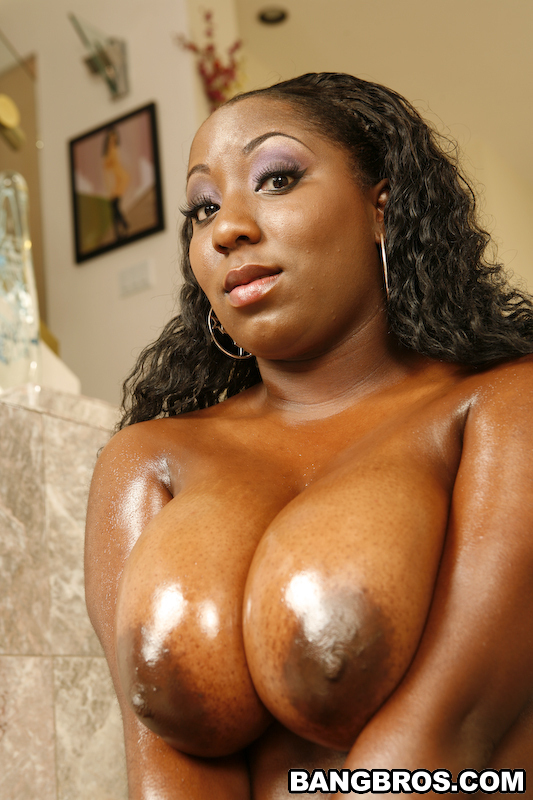 Big Oiled Black Boobs