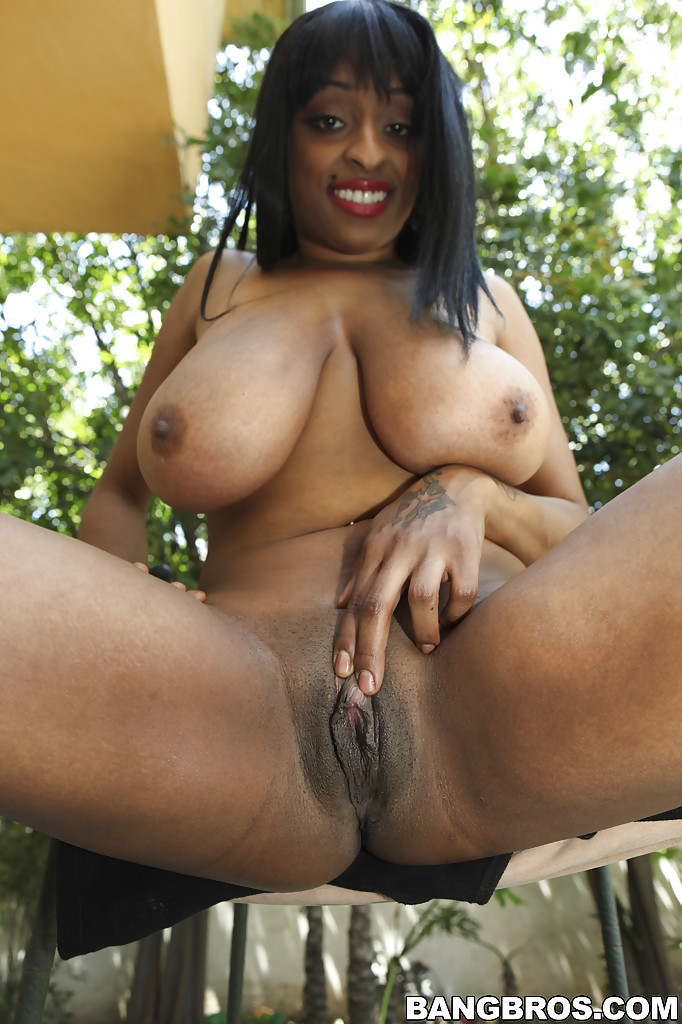 Candace von juicy afro tits interracial cunt fucking
