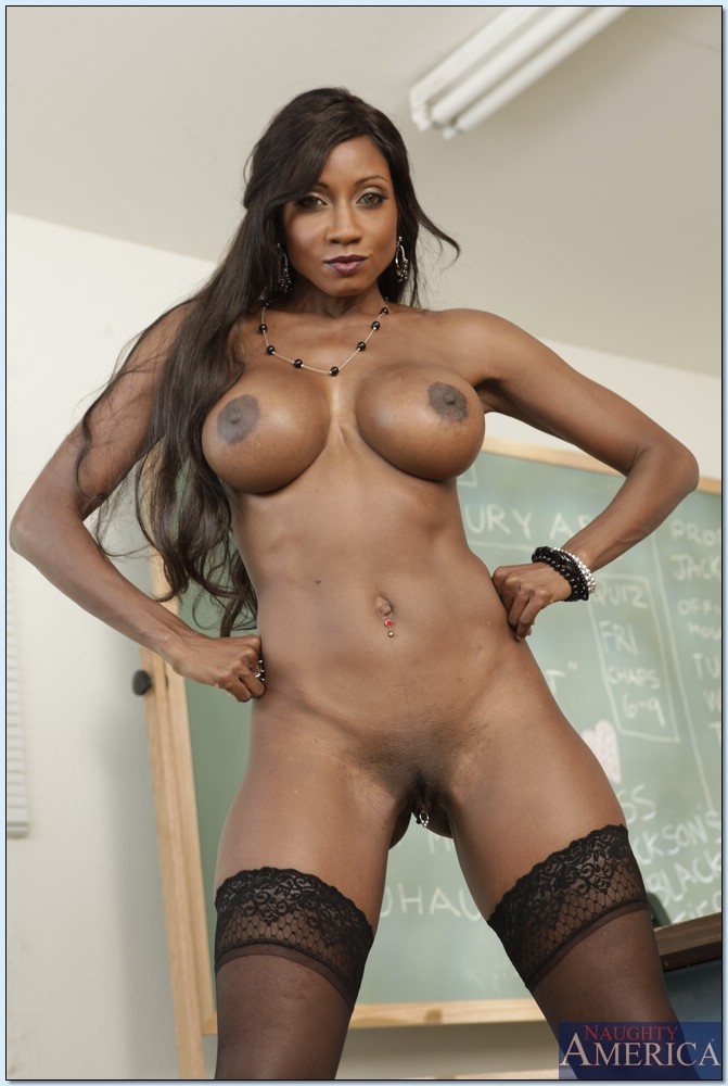 Mature ebony teacher