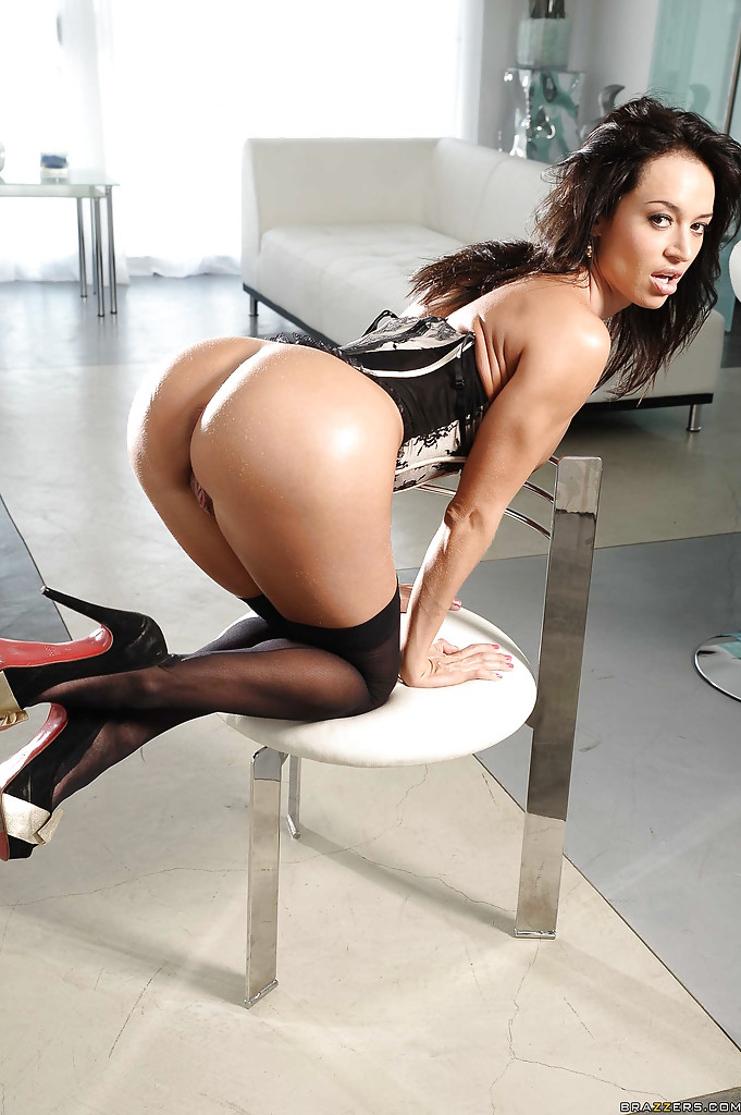 black ebony anal stockings high heels - Latina pornstar Franceska Jaimes is babe with big tits and high heels ...