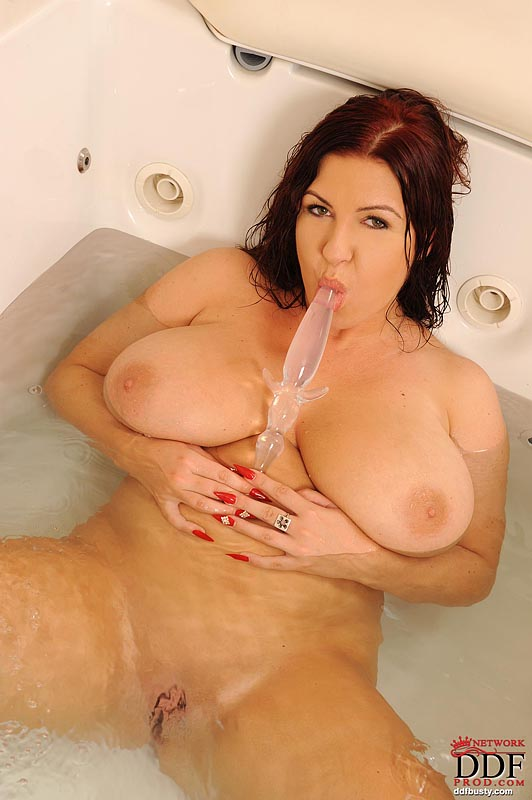 Dildo in shaved bbw pussy
