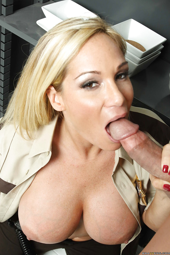 Big tits in uniform cop porn tits on patrol free video with rocco reed brazzers