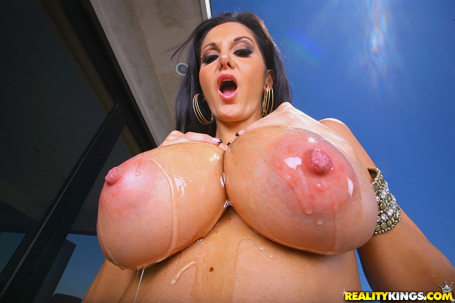 Oiled Up Big Tits Threesome
