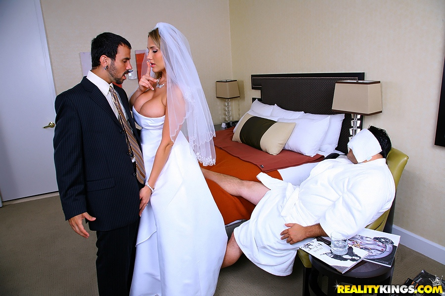 Blonde White Bride with Black Lovers  Homemade