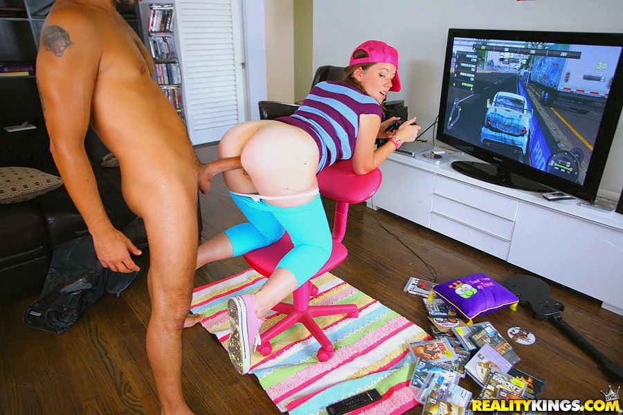 Lizzie tucker fucked while playing console game - 1 part 1