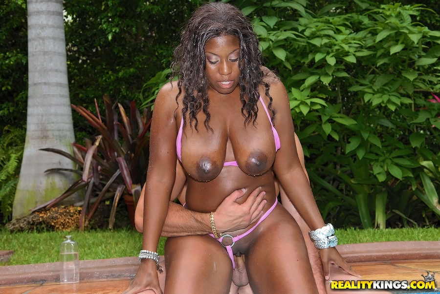 Black milf pool