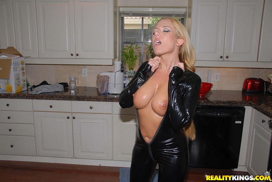 Girl in catsuit fuck a man 10