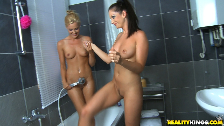 Sandra shine amp sophie moon have some fun with a dildo 9