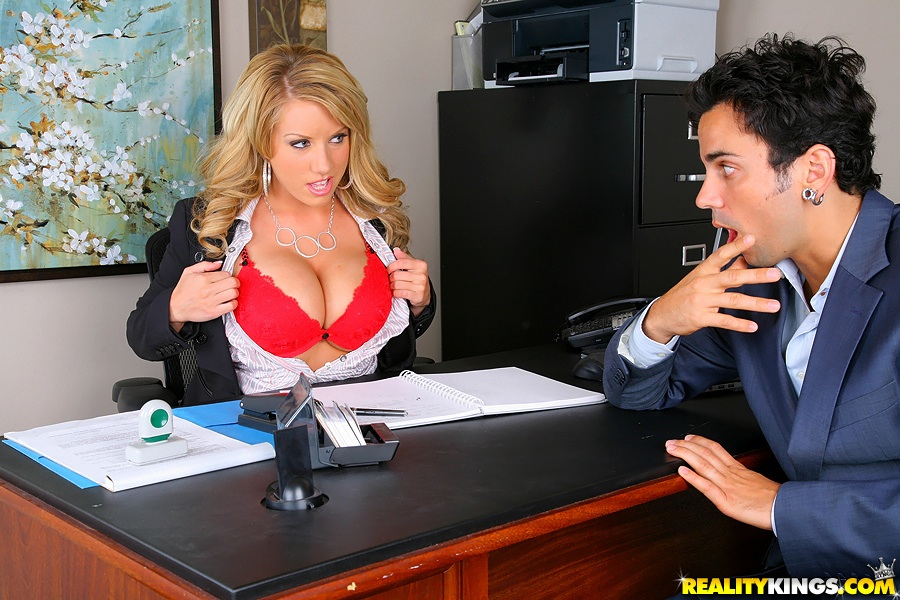 fabulous milf with perfect tits heather summers fucks in her office