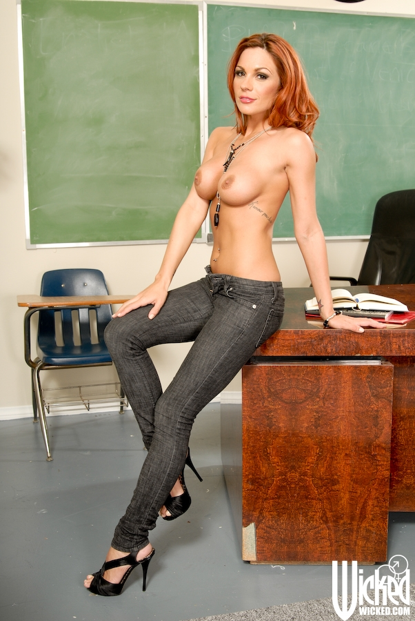 Hot milf big tits teacher and