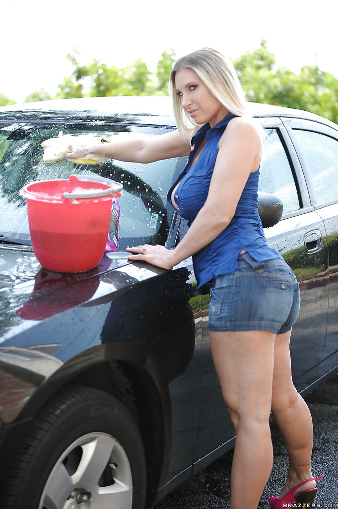 Sexy naked car wash girls with big boobs